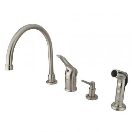 Kingston Brass KS1161BL Kingston Brass KS1161BL Widespread Lavatory Faucet with Handle, Chrome