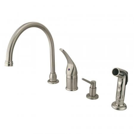 Kingston Brass KS1162BX Kingston Brass KS1162BX Widespread Lavatory Faucet with Handle, Polished Brass