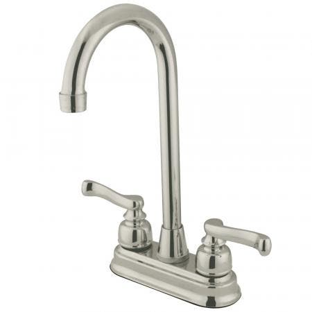 Kingston Brass KS1162TL Kingston Brass KS1162TL Widespread Lavatory Faucet with Handle, Polished Brass