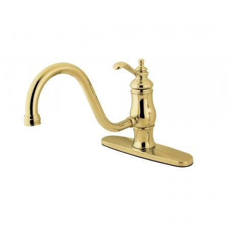 "Kingston Brass KS4644QL Two Handle 4"" Centerset bathroom Faucet with Brass Pop"
