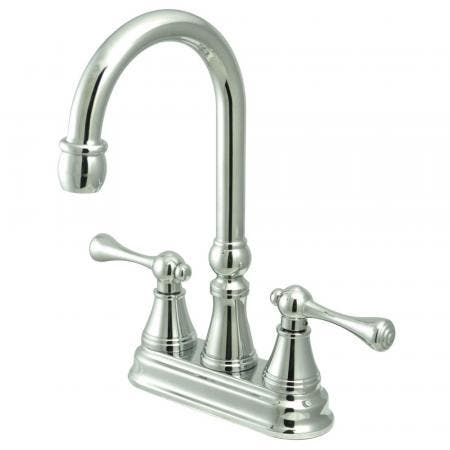 "Kingston Brass KS7165TX French Country 8"" Widespread bathroom Faucet with Brass Pop"