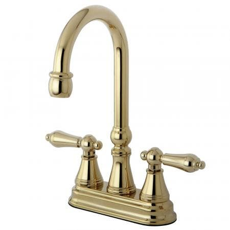 Kingston Brass KS7168PKL Kingston Brass KS7168PKL Widespread Lavatory Faucet with Brass Pop-Up,, Satin Nickel