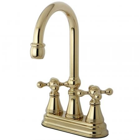 "Kingston Brass KS7168TX French Country 8"" Widespread bathroom Faucet with Brass Pop"