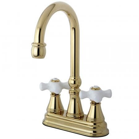 Kingston Brass KS7261NL Kingston Brass KS7261NL Country 8-Inch Widespread Lavatory Faucet with Brass Pop Up, Chrome