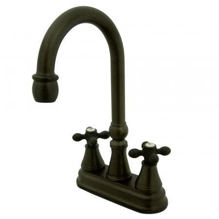 Kingston Brass KS7265TX Kingston Brass KS7265TX 8-Inch Widespread Lavatory with Brass Pop-Up, Oil Rubbed Bronze