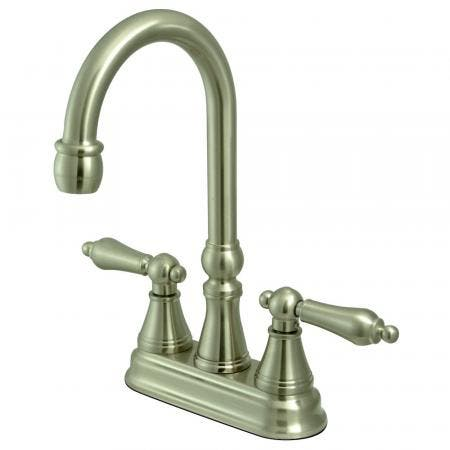 "Kingston Brass KS7611NL NORMANDY HIGH RISE 4"" centerset bathroom FAUCET, Polished Chrome"