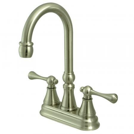 "Kingston Brass KS7611PX 4"" Centerset Lavatory Faucet, Polished Chrome"