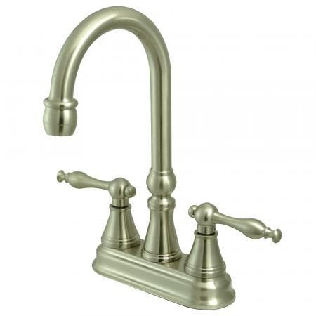 Kingston Brass KS7612BAL Kingston Brass KS7612BAL 4-InchCenterset Lavatory Faucet with Brass Pop-Up, Polished Brass