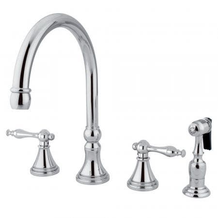 Kingston Brass KS8618DFL KS8618DFL 4 inch centerset bathroom lavatory faucet