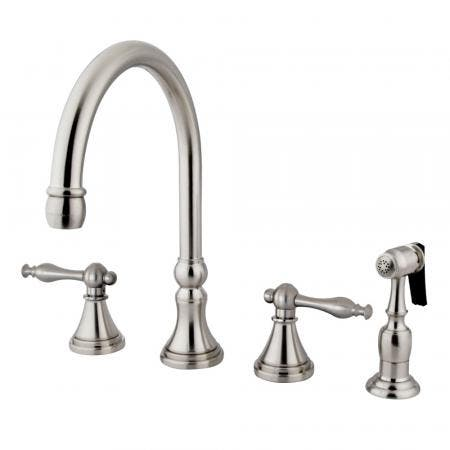 "Kingston Brass KS8661EX Two Handle 4"" Centerset bathroom Faucet with Brass Pop"