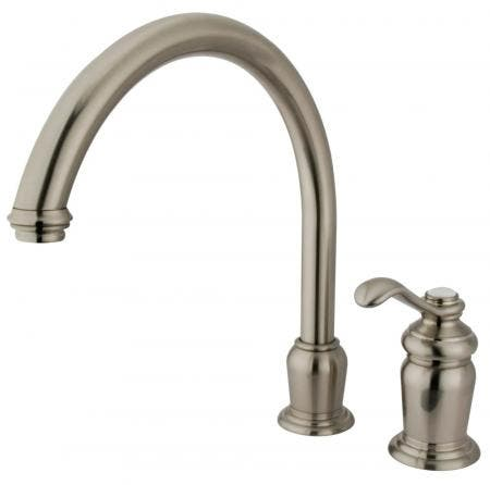 Kingston Brass KS4308PL METROPOLITAN ROMAN TUB FILLER , Satin Nickel, PORCELAIN LEVER HANDLE
