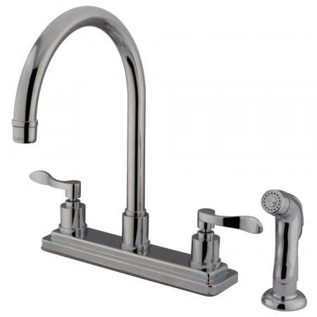 Kingston Brass KS5368PX Kingston Brass KS5368PX Roman Tub Filler with Handle, Satin Nickel
