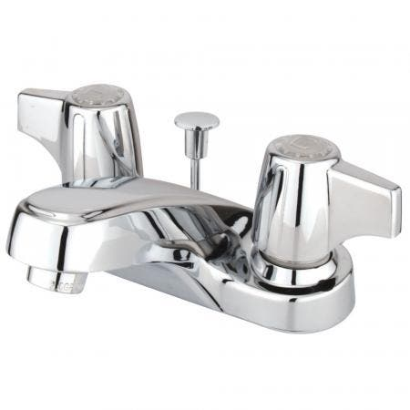 Kingston Brass KB7111TL Templeton 8 inch center two handle kitchen faucet with side sprayer