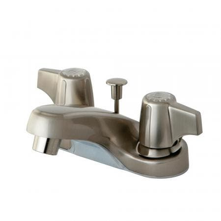 Kingston Brass KB7115TLBS Templeton 8 inch center two handle kitchen faucet with metal side sprayer