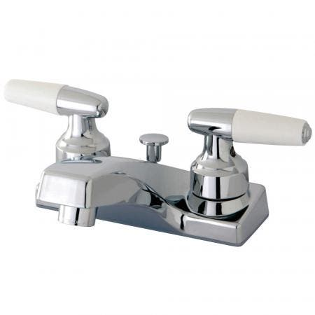 Kingston Brass KB729AX Vintage 8 inch center two handle Goose Neck kitchen faucet with side sprayer