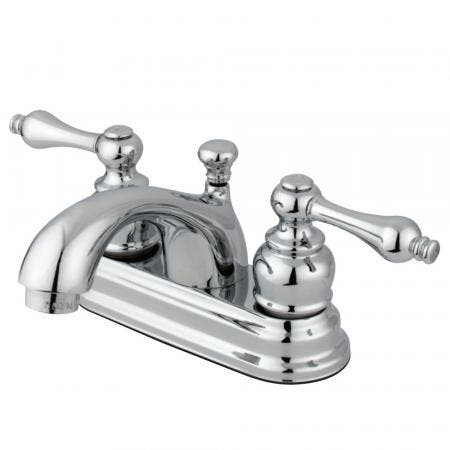 Kingston Brass KS1235PXBS Heritage single post two handles kitchen faucet with metal side sprayer