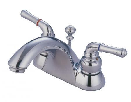 Kingston Brass KS1572TLBS Kingston Brass KS1572TLBS 8-Inch Single Handle Kitchen Faucet with Brass Sprayer, Polished Brass