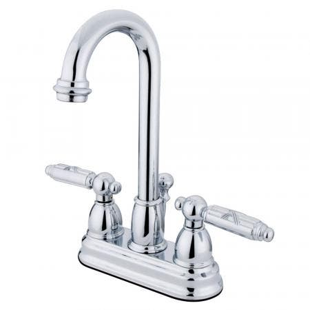 Kingston Brass KS7801TPLBS Templeton widespread single handle kitchen faucet with metal side sprayer