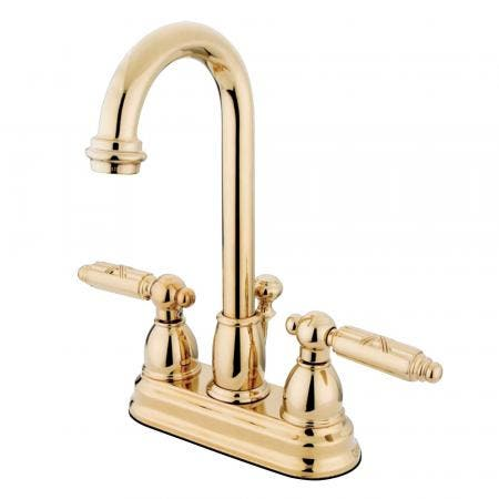 Kingston Brass KS7825TLLS Templeton widespread single handle Goose Neck kitchen faucet