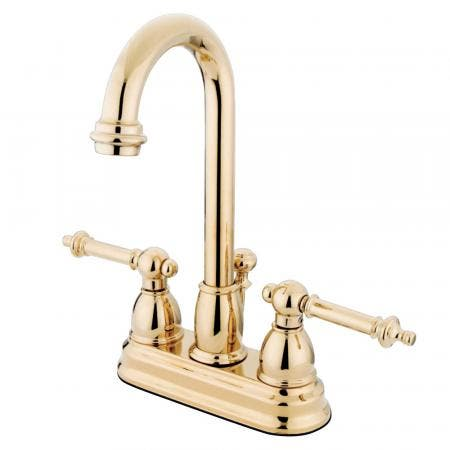 Kingston Brass KS7828TLLS Templeton widespread single handle Goose Neck kitchen faucet