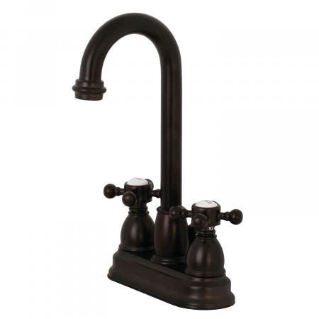 Kingston Brass KB3615BX 4-Inch Centerset Lavatory Faucet, Oil Rubbed Bronze