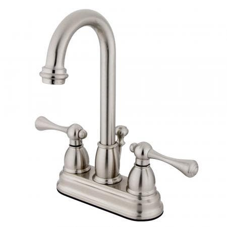 Kingston Brass KS8001DLLS Concord widespread single handle Goose Neck kitchen faucet