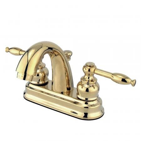 """Kingston Brass KB3609BL Two Handle 4"""" Centerset bathroom Faucet with Retail Pop"""