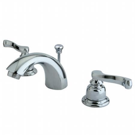 Kingston Brass KS2612NL Kingston Brass KS2612NL 4-Inch Centerset Lavatory Faucet with Brass Pop-Up, Polished Brass