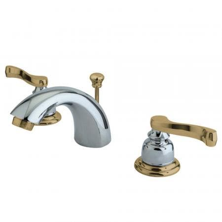 "Kingston Brass KS2612PX Two Handle 4"" Centerset bathroom Faucet with Brass Pop"