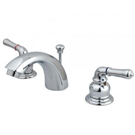 Kingston Brass KS2958ML Kingston Brass KS2958ML Mini Widespread Lavatory Faucet with Ml Handle, Satin Nickel