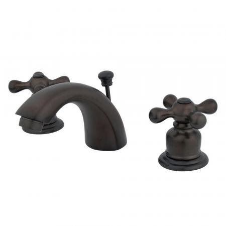 """Kingston Brass KS2965ML Two Handle 8"""" to 16"""" Widespread bathroom Faucet with Brass Pop"""