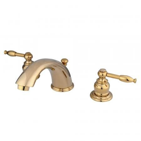 "Kingston Brass KS2975PX Two Handle 8"" to 16"" Widespread bathroom Faucet with Brass Pop"