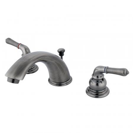 "Kingston Brass KS2978GL Two Handle 8"" to 16"" Widespread bathroom Faucet with Brass Pop"