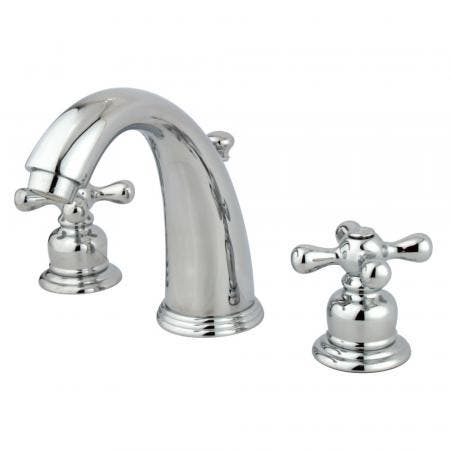 Kingston Brass KS2982NL Kingston Brass KS2982NL Widespread Lavatory Faucet with Brass Pop-Up, Polished Brass