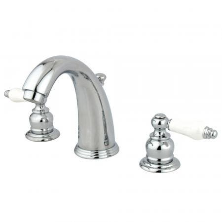Kingston Brass KS2985BL Kingston Brass KS2985BL Widespread Lavatory Faucet with Brass Pop-Up, Oil Rubbed Bronze