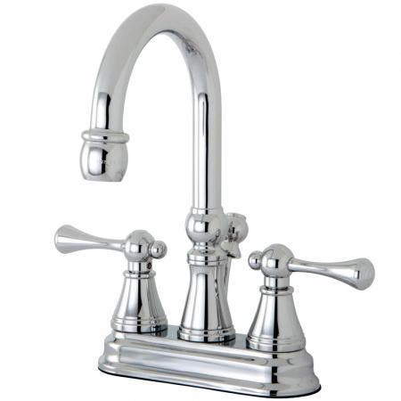 "Kingston Brass KS7618AX 4"" Centerset Lavatory Faucet, Satin Nickel"