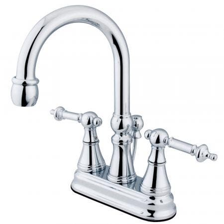 Kingston Brass KS8082DX Concord Vessel Sink Faucet without Drain, Polished Brass