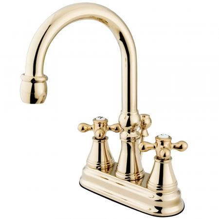 Kingston Brass KS8088DX Concord Vessel Sink Faucet without Drain, Satin Nickel