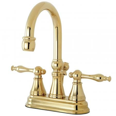 Kingston Brass KS8182DX Concord Vessel Sink Faucet without Drain, Polished Brass