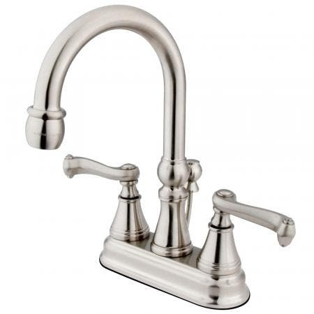 "Kingston Brass KS8611EL ELINVAR TWIN BRASS HANDLE 4"" bathroom FAUCET, Polished Chrome"