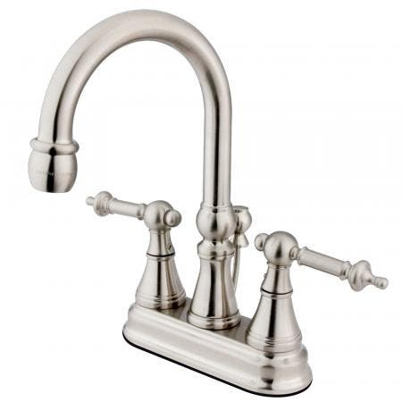 Kingston Brass KS8612EX Kingston Brass KS8612EX 4-Inch Lavatory Faucet, Polished Brass