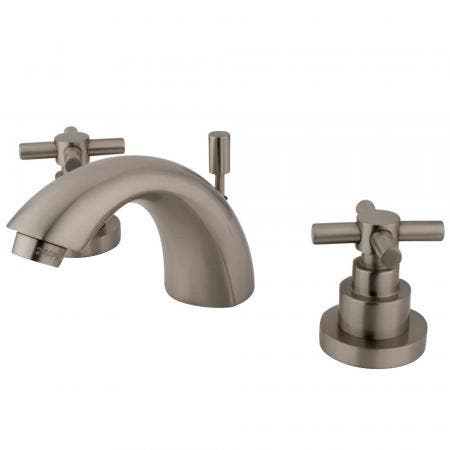 Kingston Brass KS9561RFL Kingston Brass KS9561RFL Widespread Lavatory Faucet with Rope French Lever Handle, Chrome