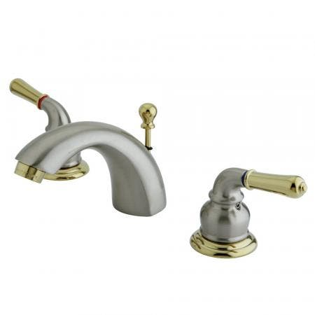 Kingston Brass KS9568RFL Kingston Brass KS9568RFL Widespread Lavatory Faucet with Rope French Lever Handle, Satin Nickel