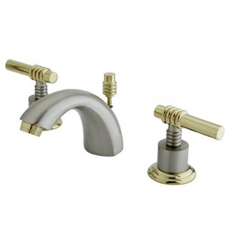 "Kingston Brass KS9611AX 4"" Centerset bathroom Faucet with Brass Pop"