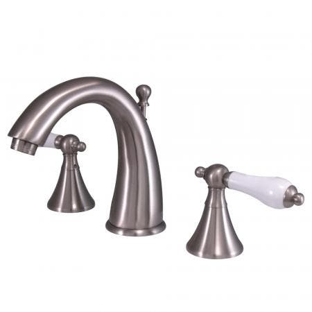 Kingston Brass CC2007T2 Kingston Brass CC2007T2 Deck Mount Leg Tub Filler with Hand Shower Adjustable 3-3/8 Inch to 10-Inch, Polished Brass