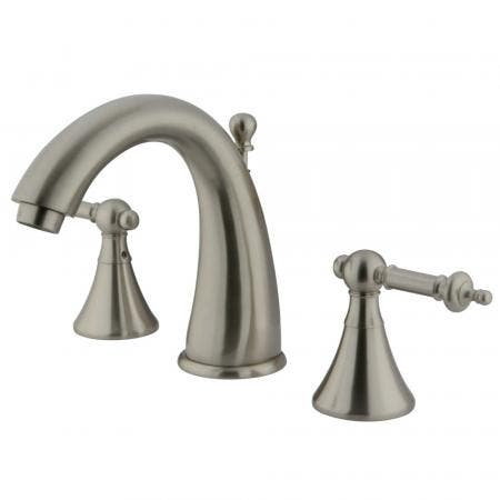 Kingston Brass CC2007T8 Deck Mount Leg Tub Filler with Handle and Shower, Adjustable Spread 3