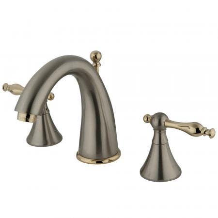 Kingston Brass CC2009T2 Deck Mount Leg Tub Filler with Handle and Shower, Adjustable Spread 3