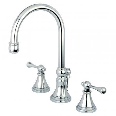 Kingston Brass CC2010T1 Kingston Brass CC2010T1 Deck Mount Leg Tub Filler with Hand Shower Adjustable 3-3/8 Inch to 10-Inch, Chrome