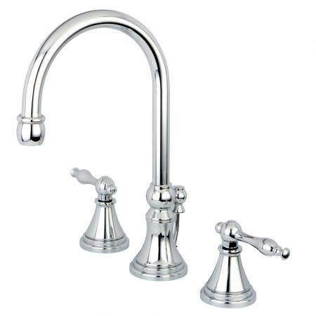 Kingston Brass CC2011T8 Deck Mount Leg Tub Filler with Handle and Shower, Adjustable Spread 3