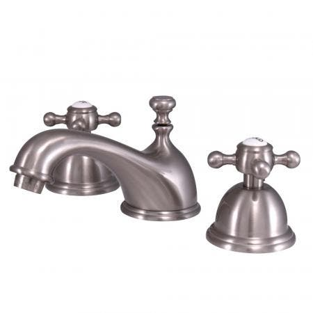 Kingston Brass KB2638WCL Kingston Brass KB2638WCL Celebrity Tub & Shower Faucet with Octagonal Crystal Knob, Chrome